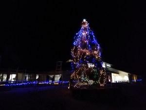 願成就温泉にクリスマスツリー